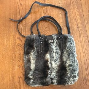 Handbags - Faux fur purse tote